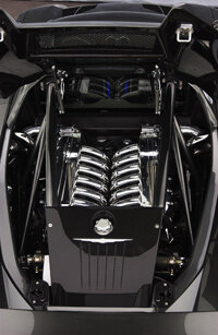 The ME's all-aluminum, quad-turbo, 6.0-liter V-12