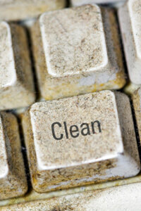 Grimy, dirty, sticky keys can spread germs and possibly cause your keyboard to stop working altogether. Use our tips to keep your keyboard clean and to cut down on germs.