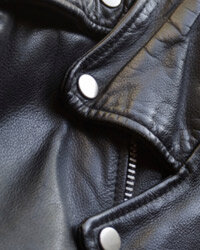 You can't go wrong with black leather.