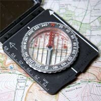 A compass will always point toward the North Pole.