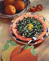 Smoky kale chiffonade makes a delicious side dish.