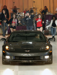 Photo courtesy General Motors The ZR1 debuted at the North American International Auto Show in Detroit in December 2007.