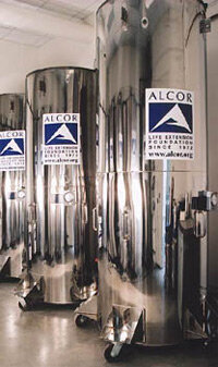 Cryogenic storage containers. See more cryonics pictures.