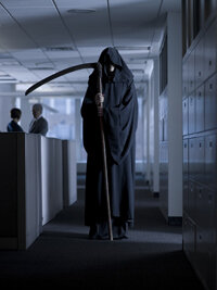 Could a different office setup slow the Grim Reaper's advance?