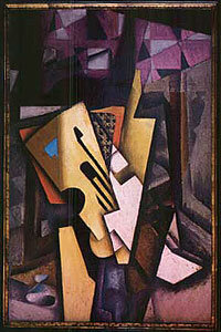 "Juan Gris' 1913 ""Guitar on a Chair"" was stolen from a home in Madrid in 2001 and recovered by law enforcement in 2002."