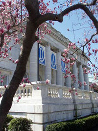 DAR headquarters in the spring.