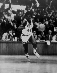 """©North Carolina State University Athletics David Thompson, known as """"Skywalker"""" soared to the height of basketball 1970s and 1980s before victim to drugs. See more pictures of basketball."""