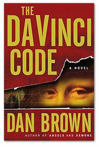 """The cover of """"The Da Vinci Code"""" book."""
