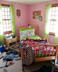 Setting reasonable rules for tidiness can get family members a little more on track for a less cluttered existence.