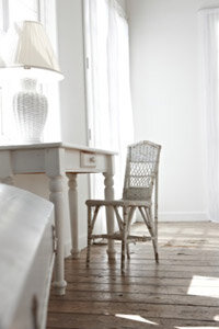Light colors can make a space appear larger.