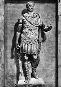 A statue of Roman dictator Julius Caesar