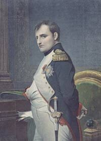 French Emperor Napoleon Bonaparte (1769-1821) in his study
