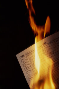 Tax Image Gallery While it's tempting, you really shouldn't burn your tax forms before you send them in. See more tax pictures.