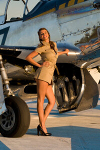 Costumes based on pinup art during the World War II era are popular in dieselpunk circles.