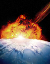 One compelling theory about the extinction of the dinosaurs is a massive asteroid impact.