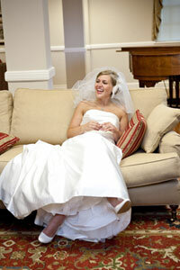 Image Gallery: Wedding Gowns The author in her showstopping steal of a gown. See pictures of wedding gowns.