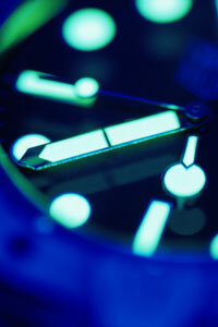 Dive watches usually have illuminated watch hands and markers so they can be used in low light conditions.