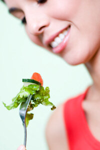 Eating plenty of fruits and vegetables may help prevent some skin damage.