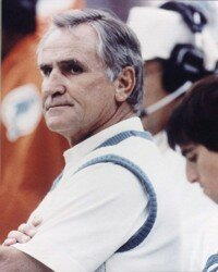 Don Shula had an undefeated season as coach  Dolphins in 1972. See more pictures of football greats.