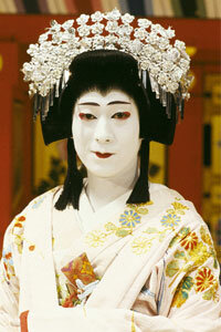 Since the 17th century, Japanese kabuki has featured male actors performing female roles.