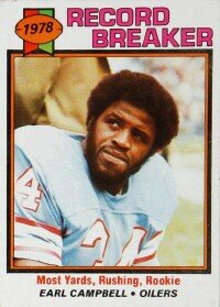 Earl Campbell received a custom designed offense before he even played a single game for Houston. See more pictures of football players.
