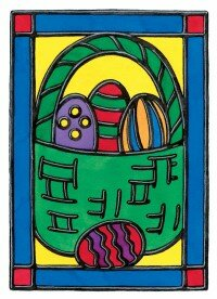 The Stained Glass Easter Basket is beautiful and fun to make.