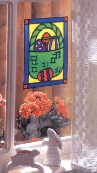 Stained Glass Easter Basket