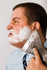 We don't recommend an axe as a shaving tool.