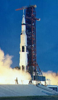 Musk wasn't even alive during this liftoff of Apollo 11, the first manned journey to the moon.