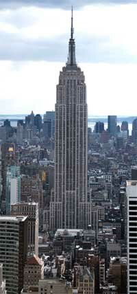 A complete view of the Empire State Building
