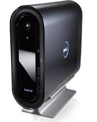 The Dell Studio Hybrid is 80 percent smaller than a typical desktop.