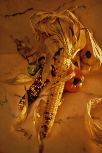 Cornucopia Image Gallery Our ancestors didn't decorate with Indian corn -- they ate it. See pictures of cornucopias.