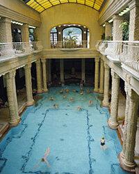 The Hotel Gellert baths in Budapest