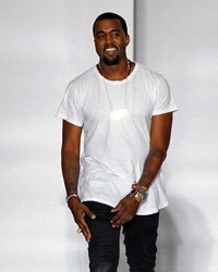 Kanye has always kept his own look basic -- a white T-shirt and black jeans with a pair of simple shoes.