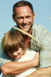 Ninety-three percent of American dads hug their kids at least once a week.