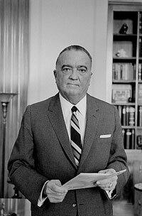 J. Edgar Hoover in 1961