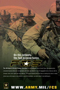 An Army poster designed to promote the Future Combat Systems.