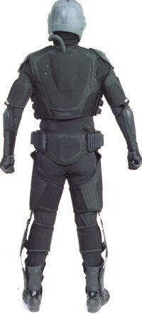 Back view of a Future Force Warrior suit
