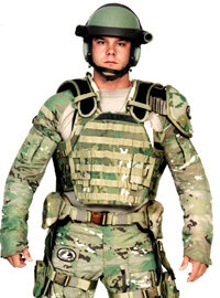The U.S. Army is working on armor that will act as an exoskeleton and provide protection for soldiers.