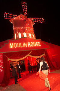 "For ""Moulin Rouge,"" set designers created 19th century France, also recreated for the movie's premiere."