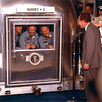 The Apollo 11 crew with President Richard M. Nixon