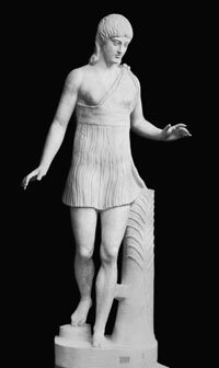 This statue depicts a young competitor in the Herean games.