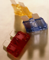 Small auto fuses like these help to make sure none of your car's electrical wires overheat. See more fuse pictures.