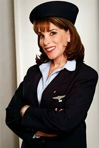 Kate Linder, a star of the TV soap opera 'The Young and the Restless' has kept her other job as a flight attendant. She finds the dual careers keep her grounded.