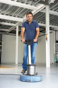 The angle of the floor buffer's handle affects the end result of your polishing work.