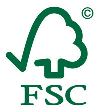 The FSC's trademark representing Responsible Forest Management. Branding this on forest products lets consumers know they came from FSC-approved forests.