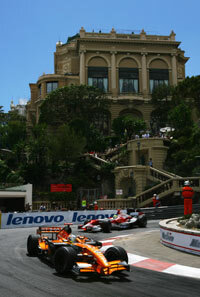 A shot from the Monte Carlo Grand Prix