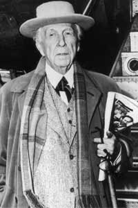 A portrait of Frank Lloyd Wright, taken in 1950.