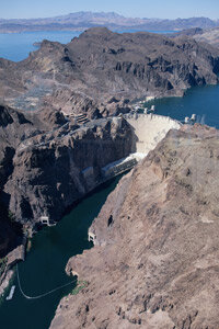 The Hoover Dam generates a lot of power, but it also takes up a lot of space. See more renewing the grid pictures.
