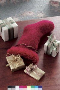 These beautiful hand-knit stockings are great as is, or you can personalize them with your own decorations.